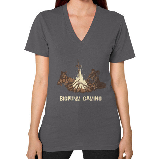 1 Year Anniversary! BIGPUMM GAMING  V-Neck (on woman) Asphalt Zacaca Shop USA