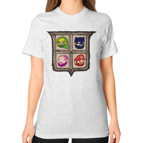 1 Year of Platnum Unisex T-Shirt (on woman) Ash grey Zacaca Shop USA