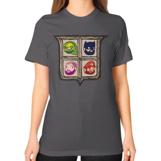 1 Year of Platnum Unisex T-Shirt (on woman) Asphalt Zacaca Shop USA
