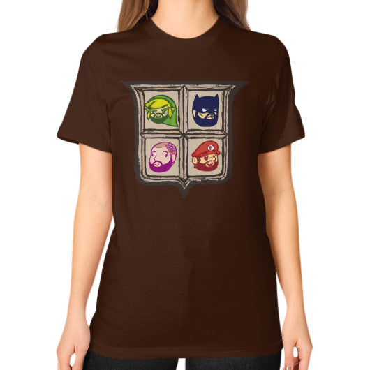 1 Year of Platnum Unisex T-Shirt (on woman) Brown Zacaca Shop USA