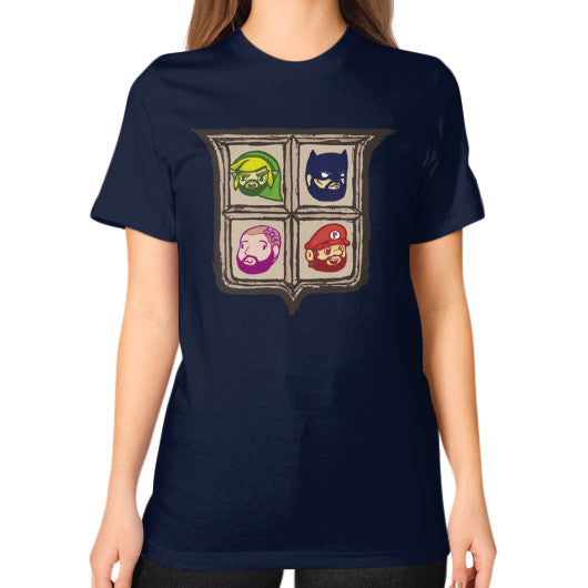 1 Year of Platnum Unisex T-Shirt (on woman) Navy Zacaca Shop USA