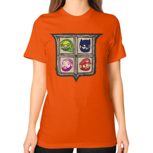 1 Year of Platnum Unisex T-Shirt (on woman) Orange Zacaca Shop USA