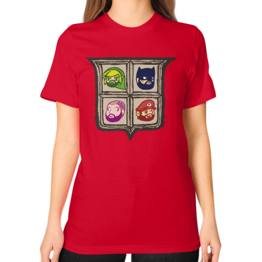 1 Year of Platnum Unisex T-Shirt (on woman) Red Zacaca Shop USA