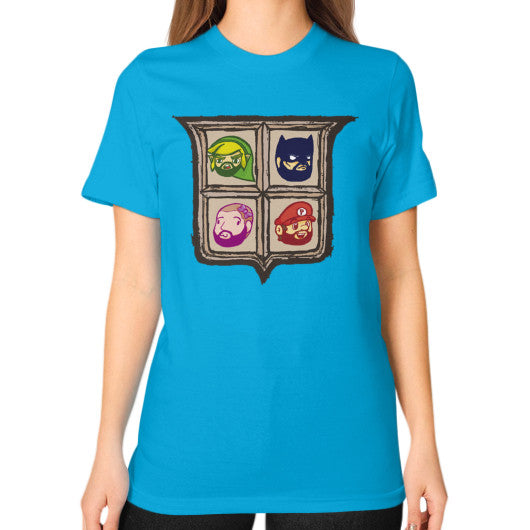 1 Year of Platnum Unisex T-Shirt (on woman) Teal Zacaca Shop USA