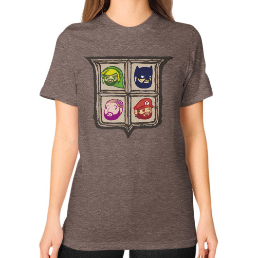 1 Year of Platnum Unisex T-Shirt (on woman) Tri-Blend Coffee Zacaca Shop USA