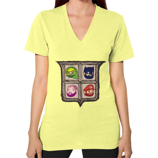 1 Year of Platnum V-Neck (on woman) Lemon Zacaca Shop USA