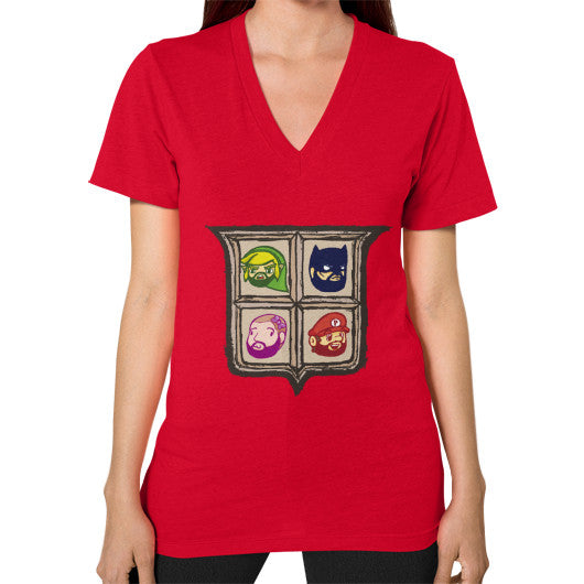 1 Year of Platnum V-Neck (on woman) Red Zacaca Shop USA