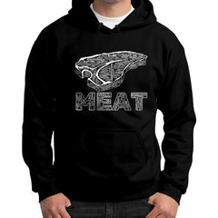 1st Edition Cookout MEAT Gildan Hoodie (on man)
