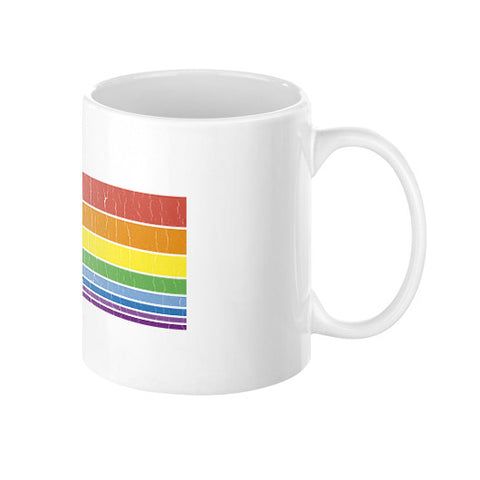 80s Vintage Unicorn Rainbow (distressed look) Coffee Mug  Zacaca Shop USA