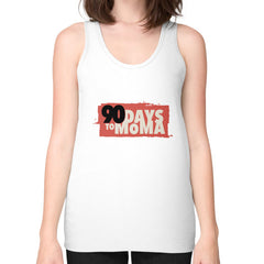 90 Days To MOMA Unisex Fine Jersey Tank (on woman) Shirt