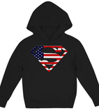 American flag superman Hoodie Kids Shirt - Zacaca Shop USA - 2