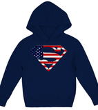American flag superman Hoodie Kids Shirt - Zacaca Shop USA - 3