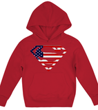 American flag superman Hoodie Kids Shirt - Zacaca Shop USA - 4
