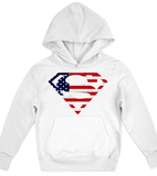 American flag superman Hoodie Kids Shirt - Zacaca Shop USA - 1