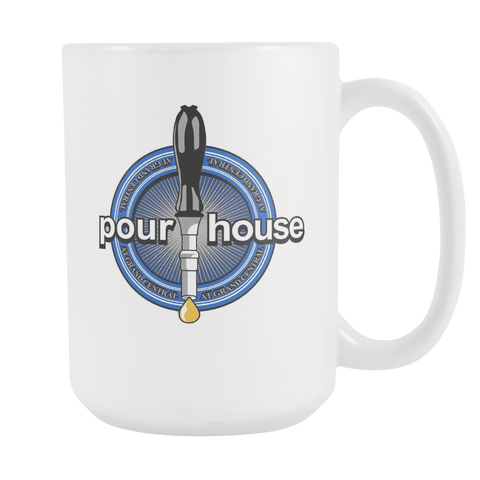 Pour house coffee Mug 15 oz Double Sided - Zacaca Shop USA - 1