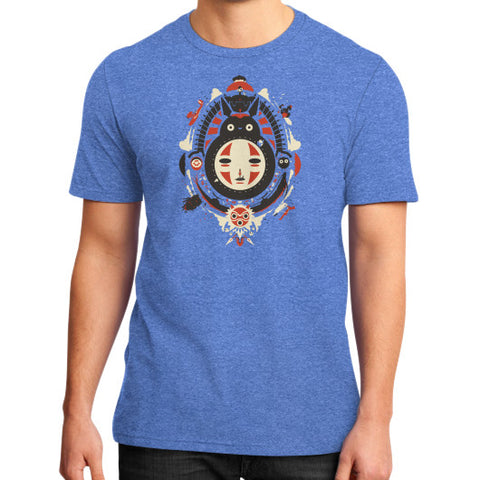 A New Wind District T-Shirt (on man) Heather blue Zacaca Shop USA