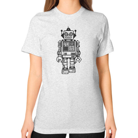 A Vintage Friend Unisex T-Shirt (on woman) Ash grey Zacaca Shop USA