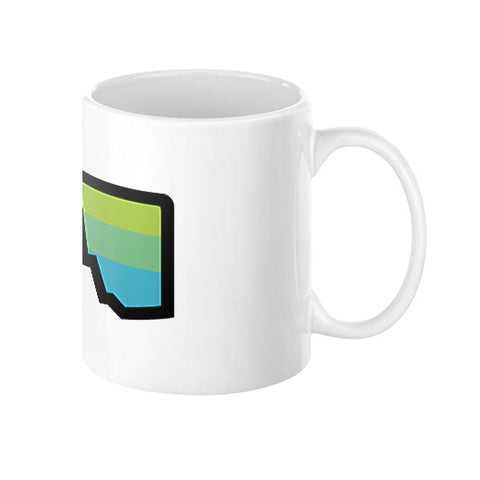 Abstract Mountain Light Invert Coffee Mug  Zacaca Shop USA