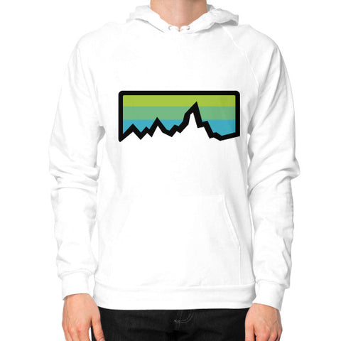 Abstract Mountain Light Invert Hoodie (on man) Shirt White Zacaca Shop USA