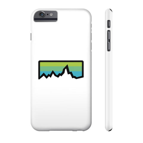Abstract Mountain Light Invert Phone Case  Zacaca Shop USA