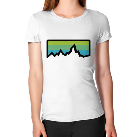 Abstract Mountain Light Invert Women's T-Shirt White Zacaca Shop USA