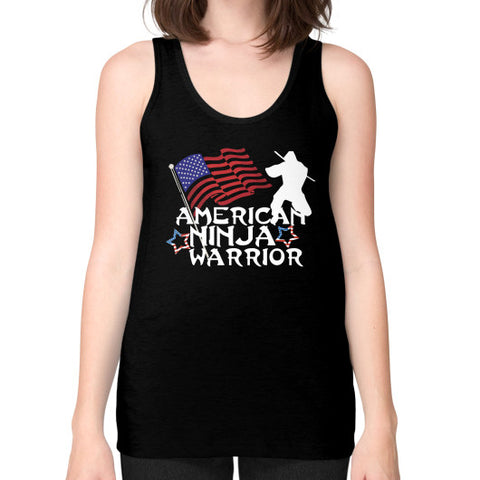 American Ninja Warrior Unisex Fine Jersey Tank (on woman) Shirt - Zacaca Shop USA - 1