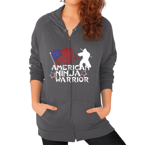 American Ninja Warrior Zip Hoodie (on woman) Shirt - Zacaca Shop USA - 2