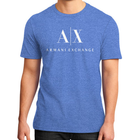 Armani Exchange District T-Shirt (on man) Heather blue Zacaca Shop USA