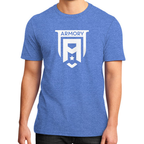 Armory Crest District T-Shirt (on man) Heather blue Zacaca Shop USA