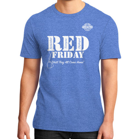 BAAM RED FRIDAY District T-Shirt (on man) Heather blue Zacaca Shop USA