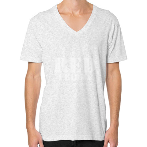 BAAM RED FRIDAY V-Neck (on man) Ash grey Zacaca Shop USA