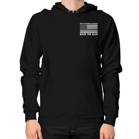 Back the Blue Police Hoodie (on man) Shirt - Zacaca Shop USA - 1