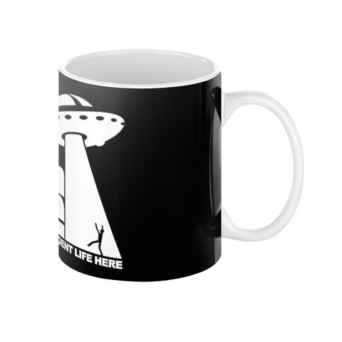 Beam Me Up No Intelligent Life 2 (white) Coffee Mug  Zacaca Shop USA