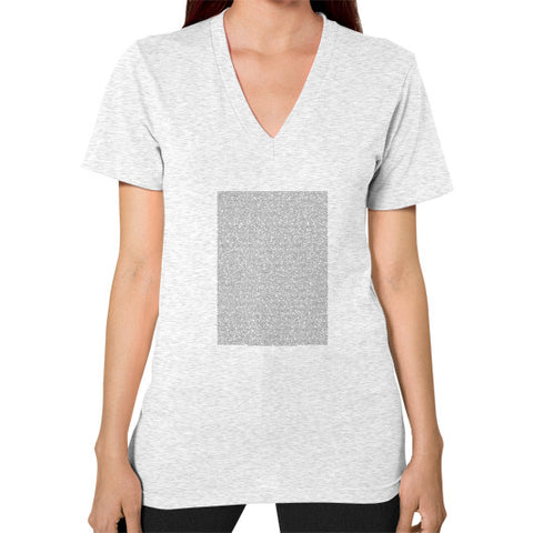 Bee Movie Script V-Neck (on woman) - Zacaca Shop USA - 2