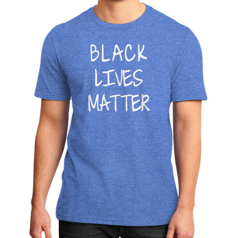 Black Lives Matter District T-Shirt (on man) - Fonts White - Zacaca Shop USA - 2