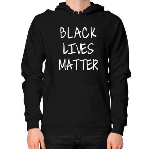 Black Lives Matter Hoodie (on man) Shirt - Fonts White - Zacaca Shop USA - 1