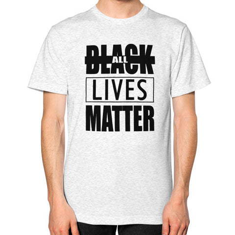 Black Lives Matter Unisex T-Shirt (on man) - Fonts Black - Zacaca Shop USA - 2