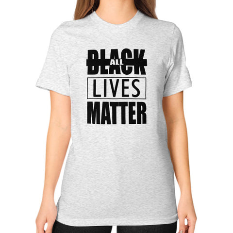 Black Lives Matter Unisex T-Shirt (on woman) - Fonts Black - Zacaca Shop USA - 2