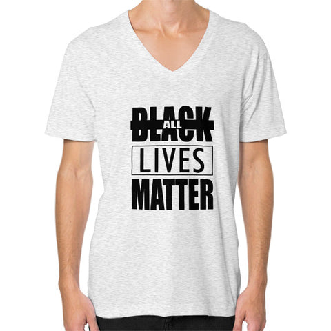 Black Lives Matter V-Neck (on man) shirt - Fonts Black - Zacaca Shop USA - 2