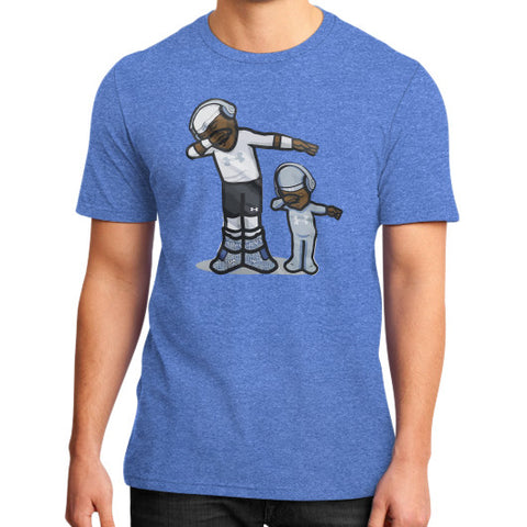 Cam Newton DAB Son - Dap On EM District T-Shirt (on man) Heather blue Zacaca Shop USA