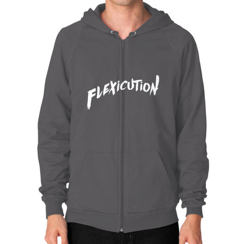 Flexicution Zip Hoodie (on man) Shirt - Zacaca Shop USA - 2