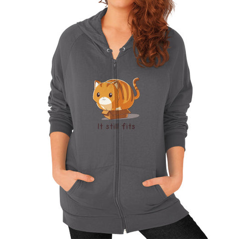 Free Brady Zip Hoodie (on woman) Shirt - Zacaca Shop USA - 2