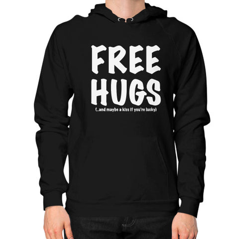 Free Hugs Hoodie (on man) Shirt - Zacaca Shop USA - 1