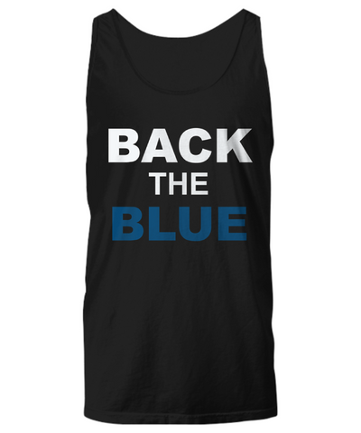 Back The Blue Unisex Tank Top - Zacaca Shop USA - 1