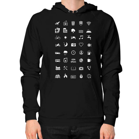 IconSpeak Hoodie (on man) - Zacaca Shop USA - 1