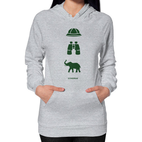 iconspeak Safari Story Hoodie (on woman) Shirt - Zacaca Shop USA - 1