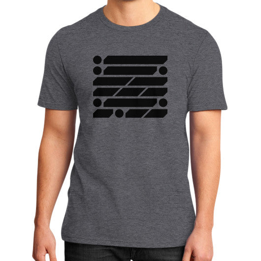 M_O_R_S_E Dark Variant District T-Shirt (on man) Heather charcoal Zacaca Shop USA