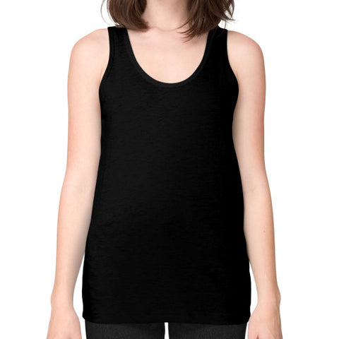 M_O_R_S_E Dark Variant Unisex Fine Jersey Tank (on woman) Shirt Black Zacaca Shop USA