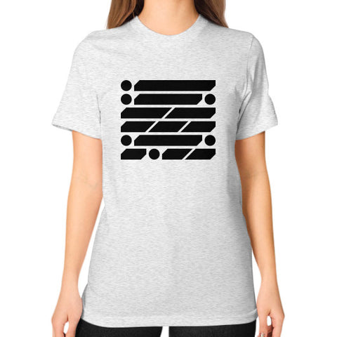 M_O_R_S_E Dark Variant Unisex T-Shirt (on woman) Ash grey Zacaca Shop USA