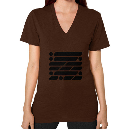 M_O_R_S_E Dark Variant V-Neck (on woman) Shirt Brown Zacaca Shop USA